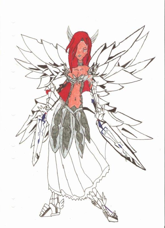 Dessin de erza scarlett en armure de cristal nouveaut - Dessin armure ...